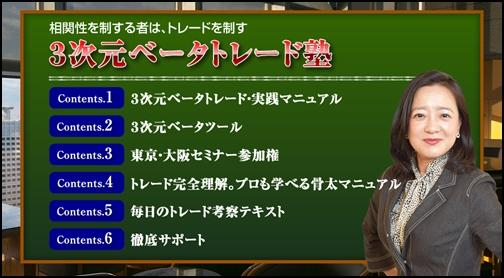 3次元ベータトレード塾(持田有紀子)評判と検証レビュー